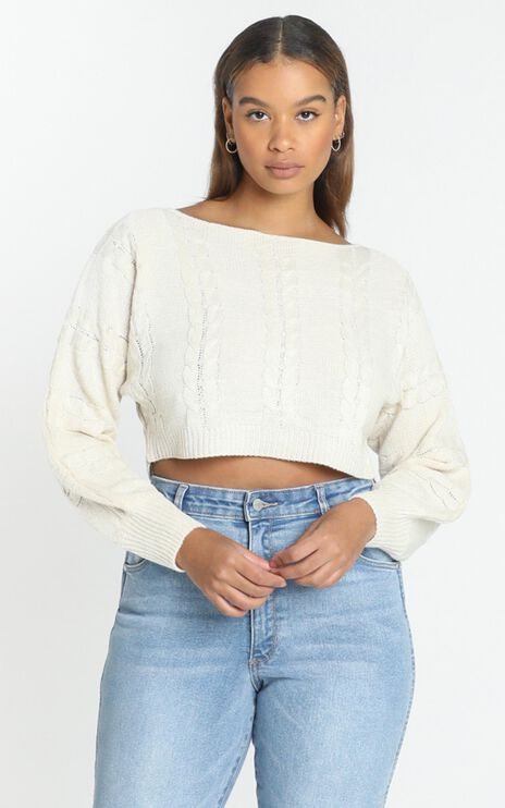 Gwenna Knit Jumper in Beige