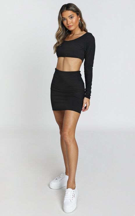 You Only Get One Two Piece Set in Black