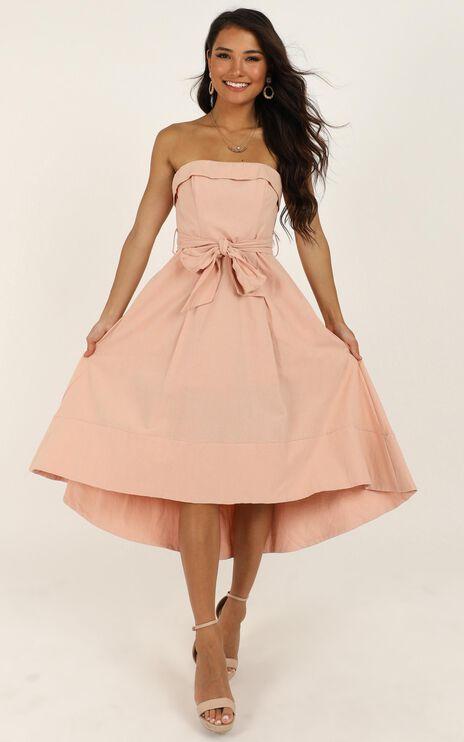 Make Me Rosy Dress In Blush