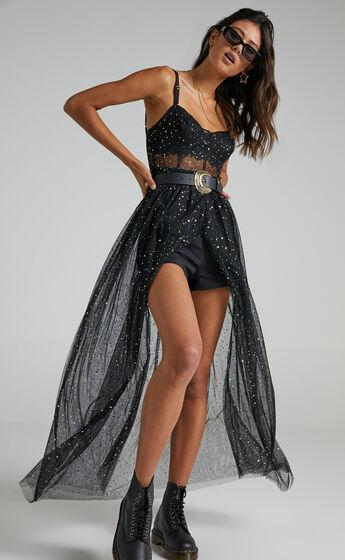 Stunning View Maxi Dress in Black Mesh