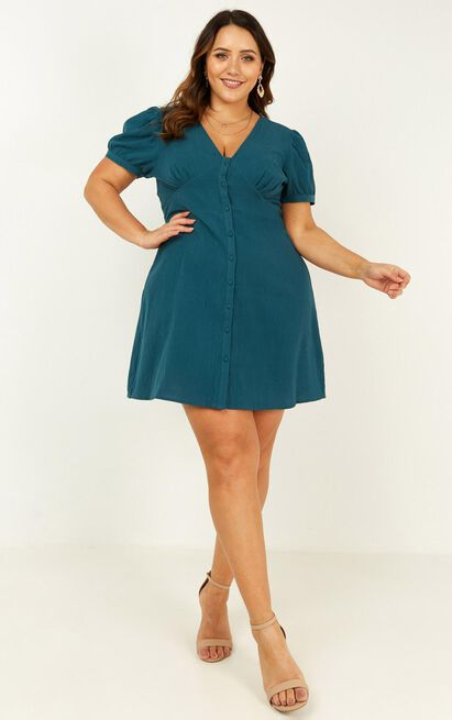 Morning Vibes Dress in emerald - 20 (XXXXL), Green, hi-res image number null