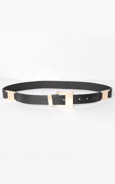 Madi Belt in Black and Gold