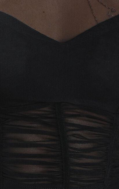 Trix top in black mesh - 12 (L), Black, hi-res image number null