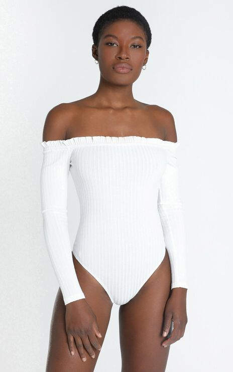 Fresh As A Daisy Bodysuit In White