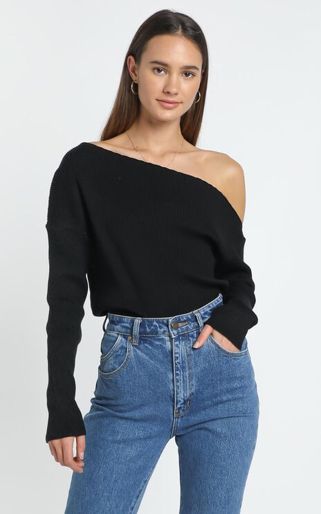 Senya Knit Top in Black
