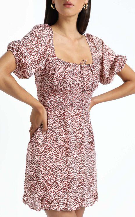 Livia Dress in Red Print