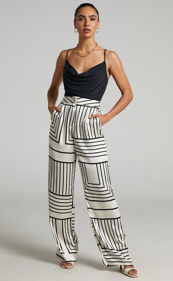4th & Reckless - Norma Trouser in abstract satin