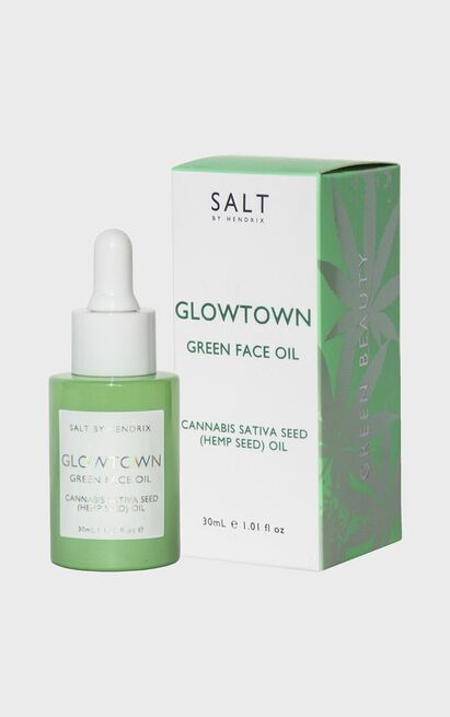 Salt By Hendrix - Glowtown Green Face Oil, , hi-res image number null