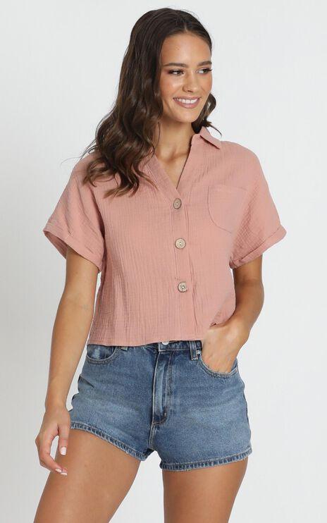 Kali Textured Shirt In Blush