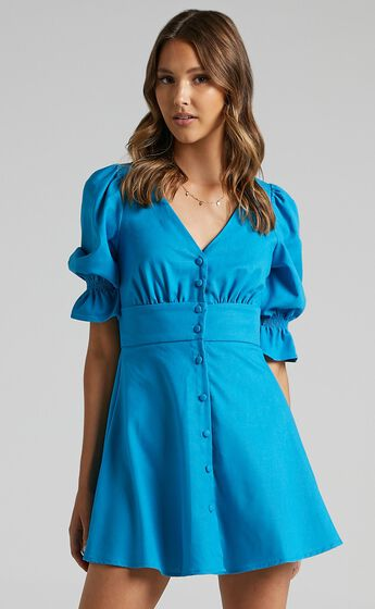 Tayla Dress in Cobalt Blue