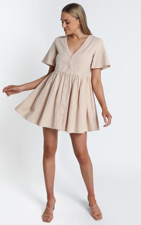 Staycation Dress In Beige