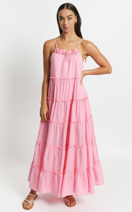 Charlie Holiday - Senorita Maxi Dress in Bubblegum