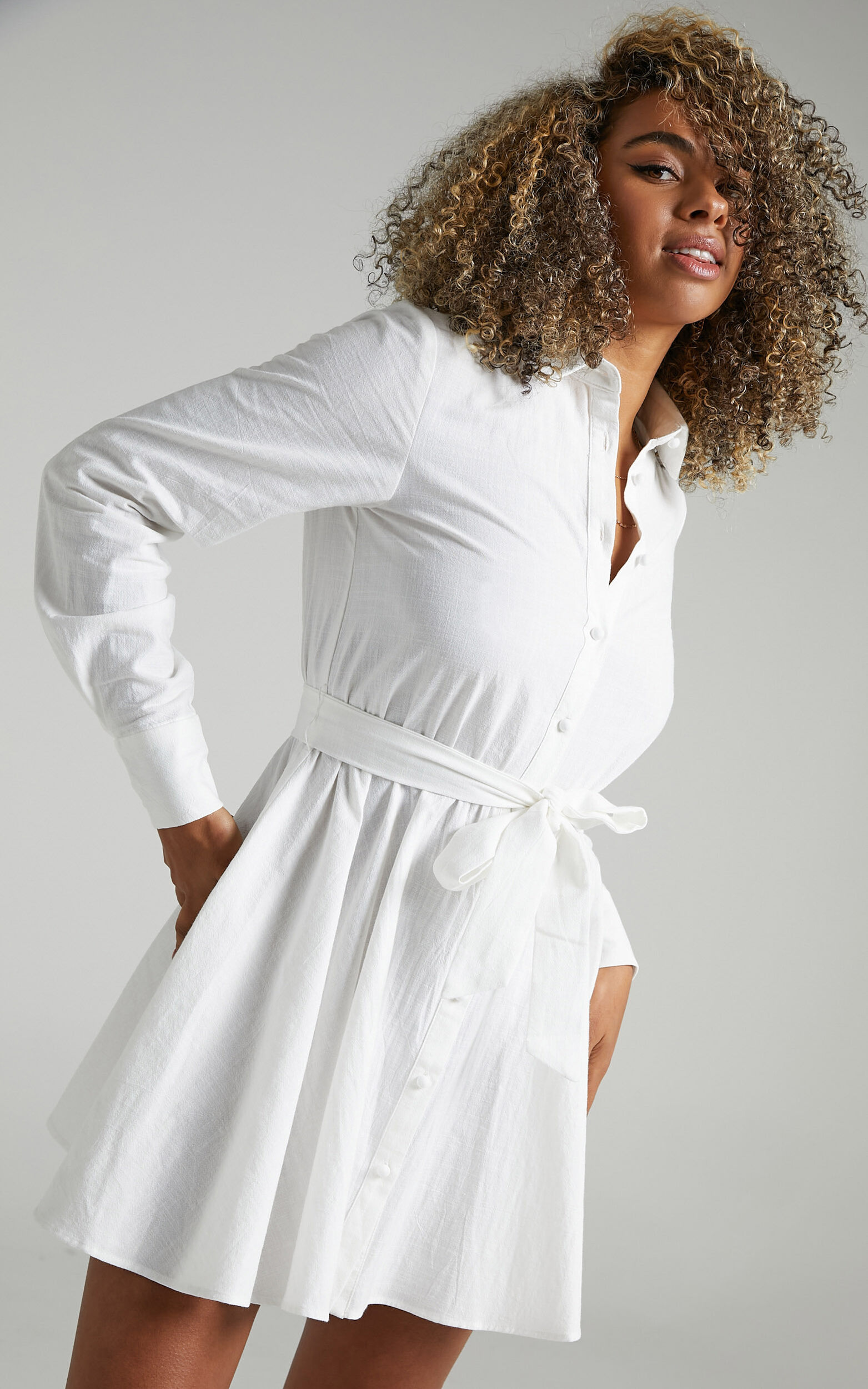 Ciri Dress in White - 04, WHT4, super-hi-res image number null
