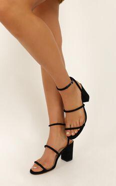 Billini - Ember heels in black micro