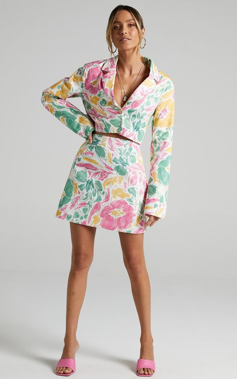 Tomira Two Piece Set in Electric Floral