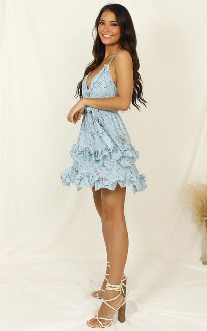 Violet Hill dress in blue floral - 14 (XL), Blue, hi-res image number null