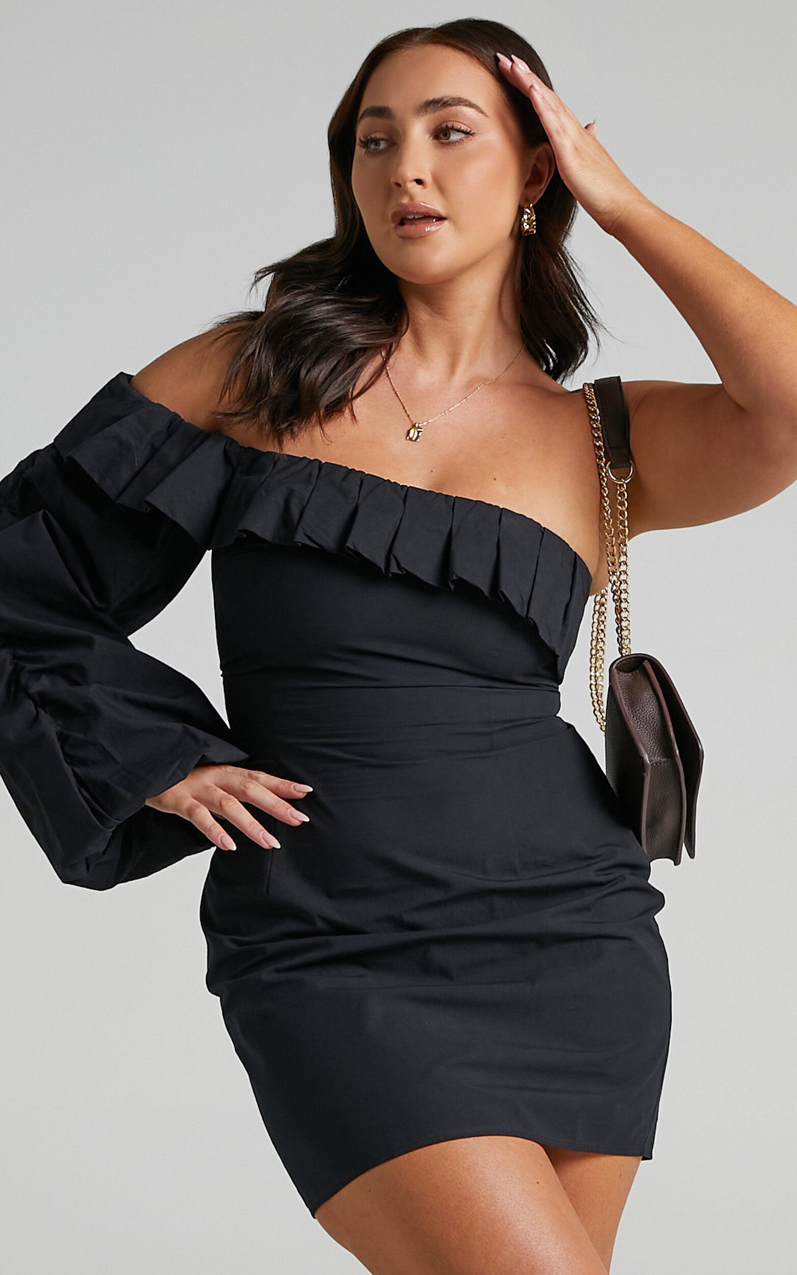 Quinnley Dress in Black - 06, BLK1, super-hi-res image number null