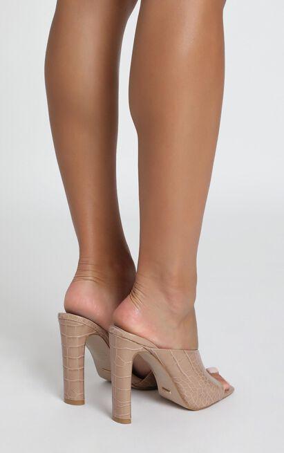 Billini - Yumi heels in nude croc - 10, Beige, hi-res image number null