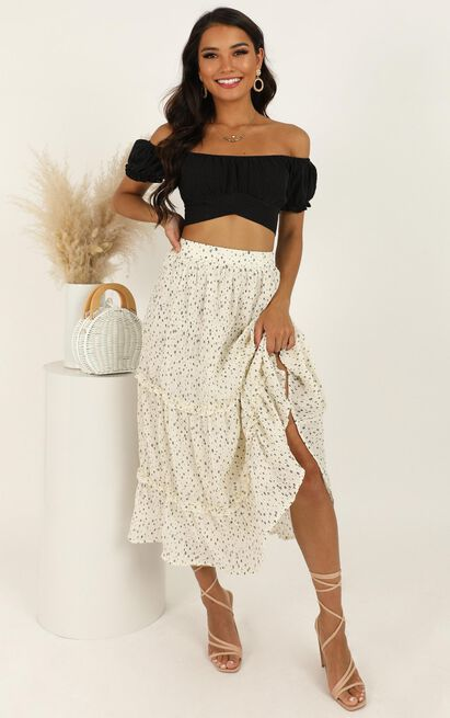Top It Up Skirt In White Spot - 16 (XXL), White, hi-res image number null