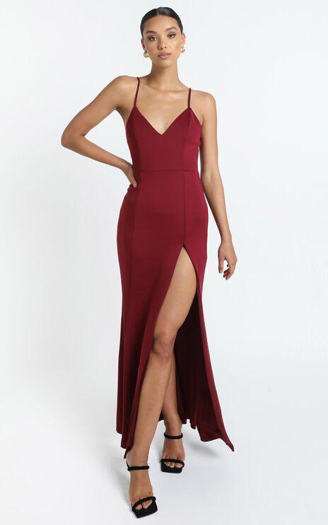 Dare To Dream Maxi Dress In Wine
