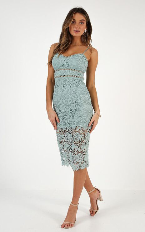 Let This Go Dress In Sage