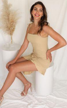 Not An Option Dress In Beige