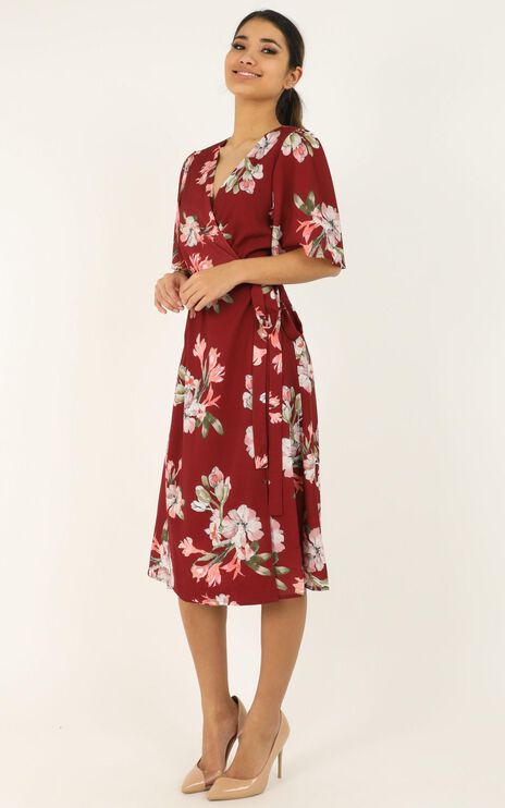 Decoding Dress In Wine Floral