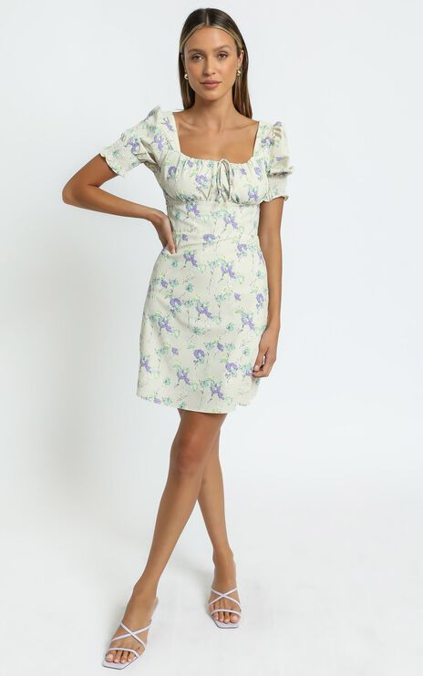 Sierra Dress in Yellow Floral