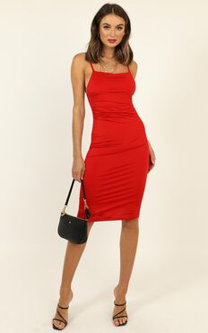 I Feel The Love Dress In Red