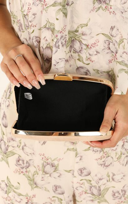 Hold Onto Me Clutch In Nude Suedette, , hi-res image number null