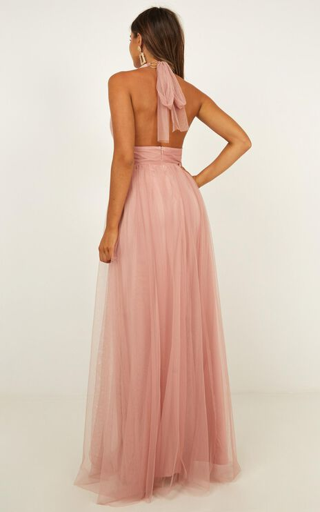 Honeymoon Avenue Maxi Dress In Blush