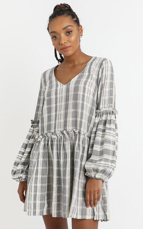 Cordelia Dress in Grey Check
