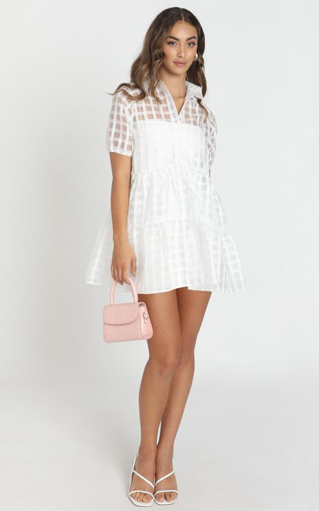 Bold Courage Dress in White