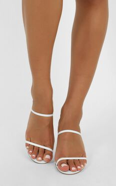 Tony Bianco - Camille Heels In White Kid