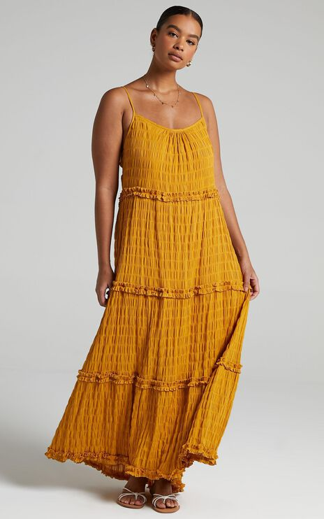 Coastal Breeze Dress in Mustard
