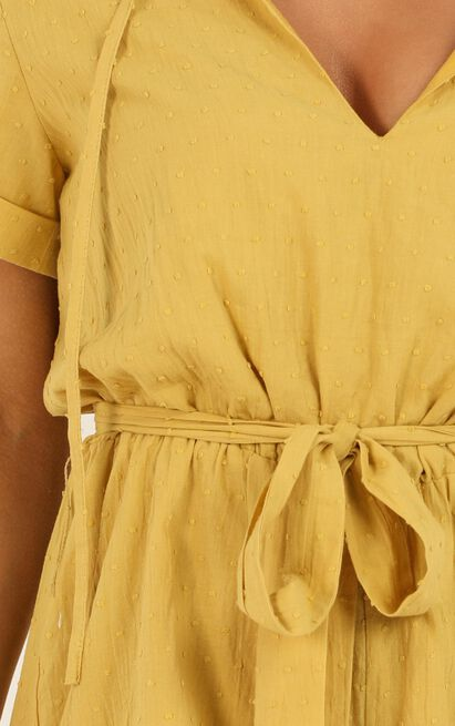 Northern Sun Playsuit in mustard dobby - 20 (XXXXL), Mustard, hi-res image number null