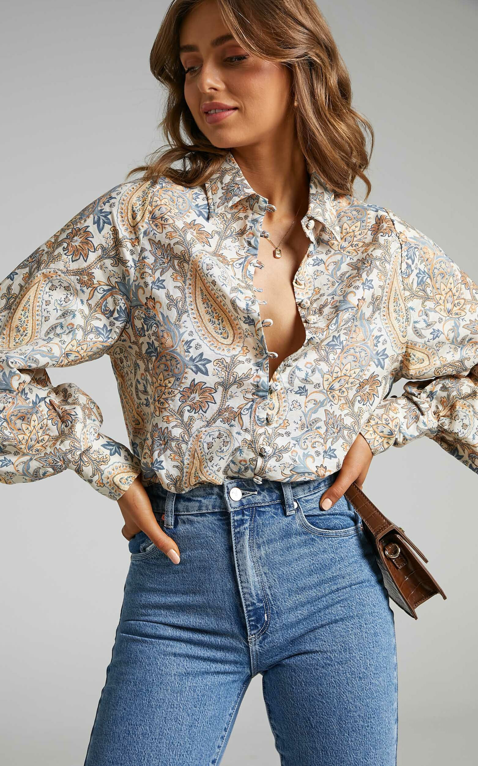 Charlie Holiday - Harmony Shirt in Paisley - L, MLT1, super-hi-res image number null