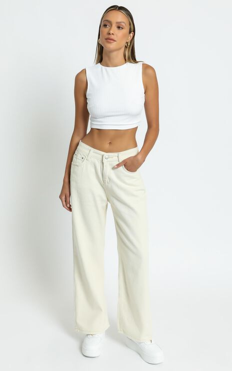 Casandra Jeans in Off White