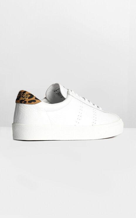 Superga - 2843 Comflea Leopard In White Animalier