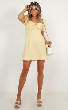 Destination  Love Dress In Lemon