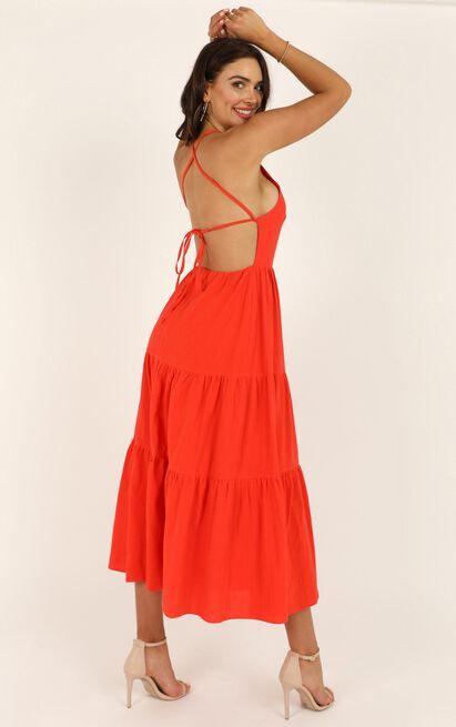 Missing Pieces Dress in  tangerine - 14 (XL), Orange, hi-res image number null