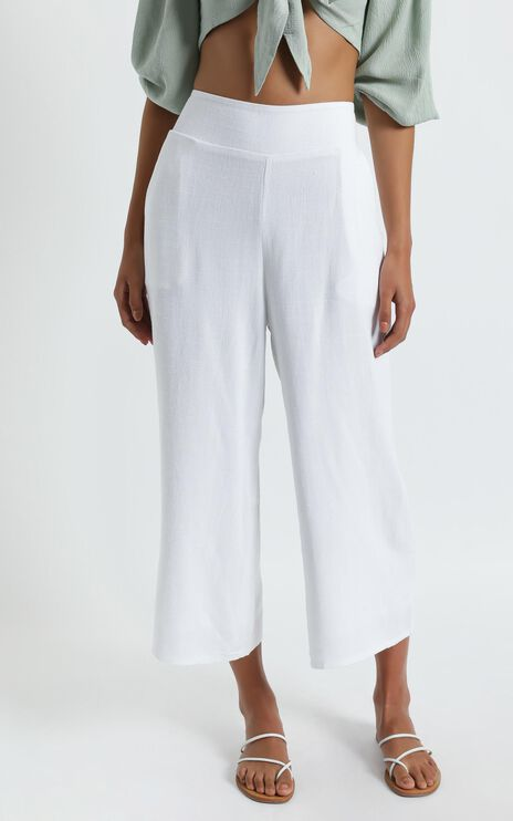 Eyes On Love Pants in White