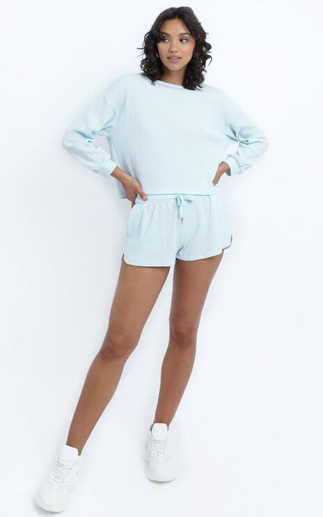 Millie Two Piece Set in Pastel Blue