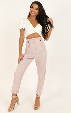 All Of The Above Pants In Blush Check