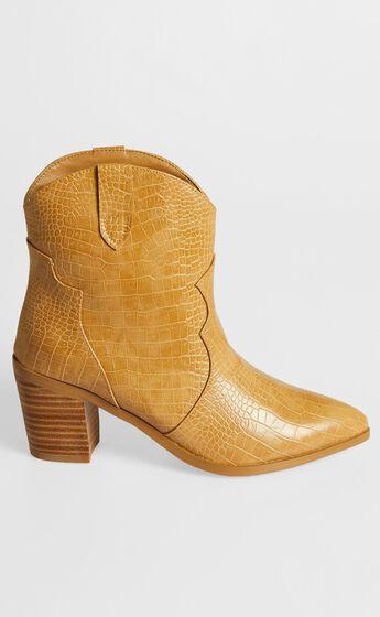Billini - Nirvana Boots in Toffee Croc