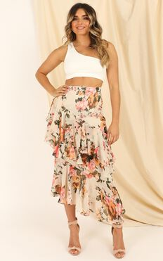 Pleased To Meet You Skirt In Cream Floral