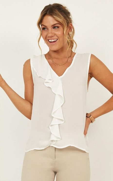 Get It Working Top In White