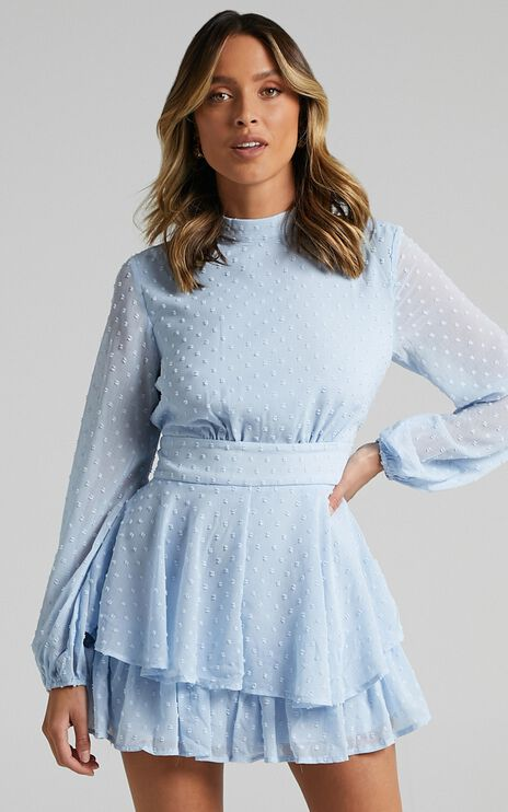Bottom Of Your Heart Playsuit In Light Blue