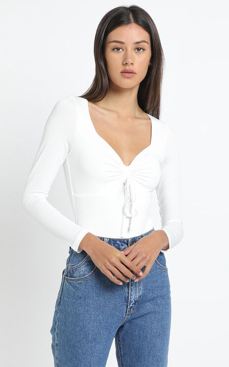Alma Bodysuit in White