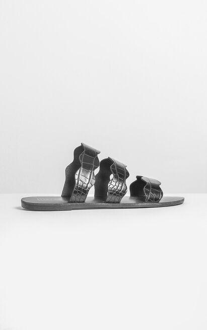 Therapy - Corbin Sandals in black croc - 5, Black, hi-res image number null